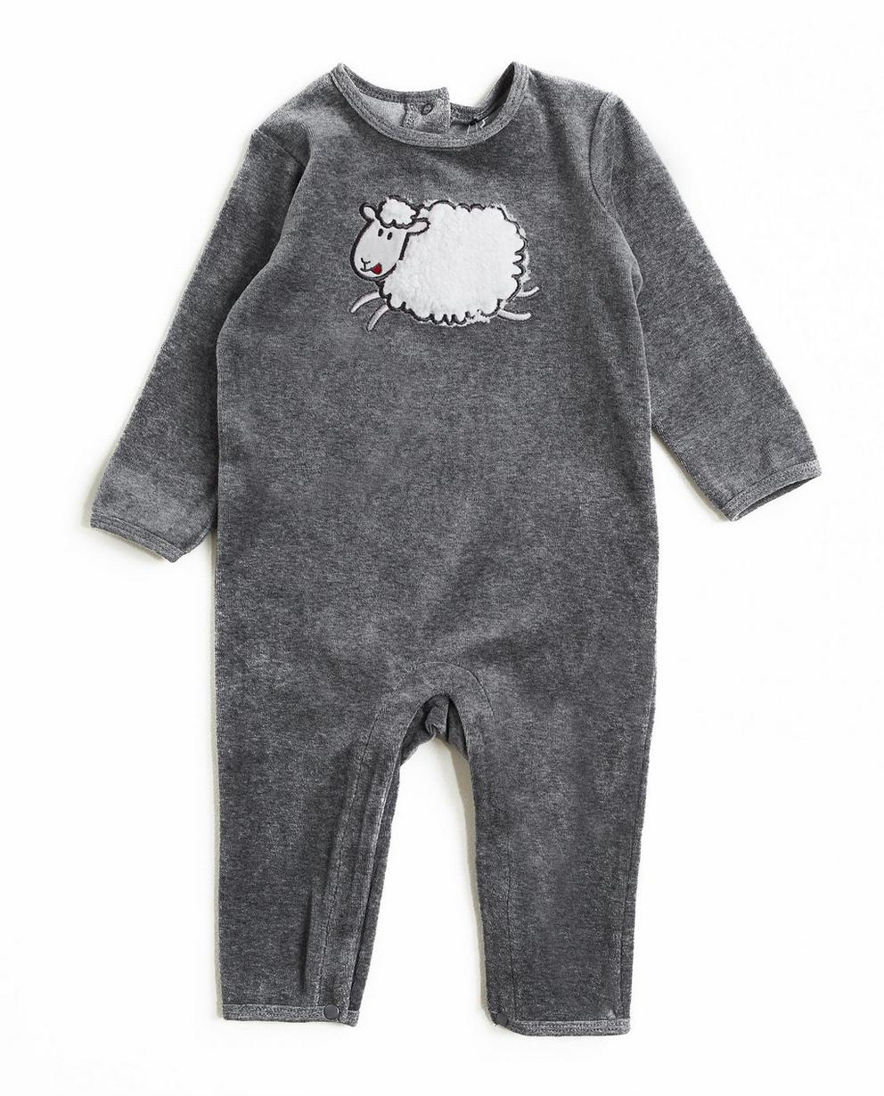 Pyjamapak met schaapje - in grijs - JBC